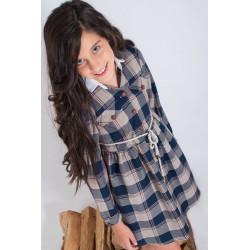 Vestido cuadros Kauli