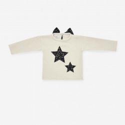 PAZ RODRIGUEZ jersey crema con estrella