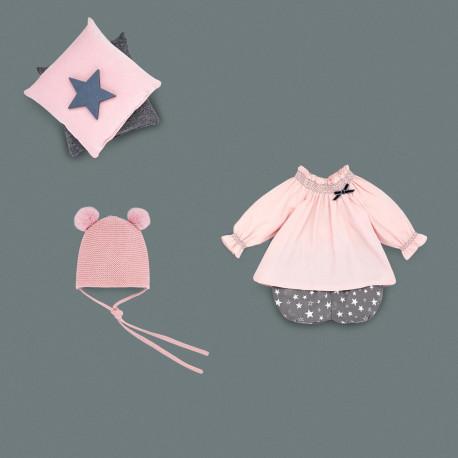 PAZ RODRIGUEZ conjunto rosa palo y estrellas