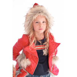 KAULI cazadora niña roja YOUNG&CHIC