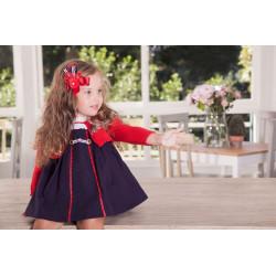 KAULI chaqueta de punto en rojo de niña MOSCU