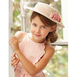 ABEL Y LULA sombrero flores rosa