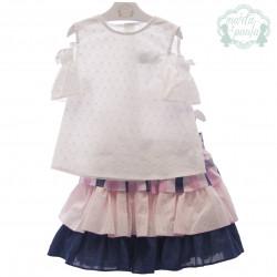 MARTA Y PAULA conjunto falda con blusa ZEUS