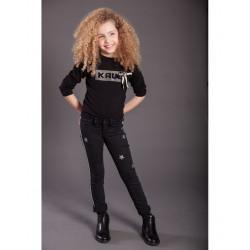 KAULI pantalon negro con estrellas plata YOUNNG&CHIC