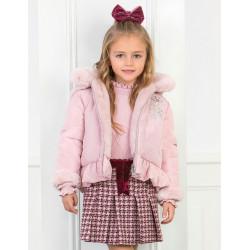 ABEL Y LULA chaquetón reversible en rosa empolvado