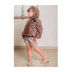 MARTA Y PAULA chaquetón pelo leopardo
