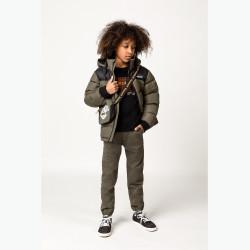 TIMBERLAND plumífero verde y negro de niño