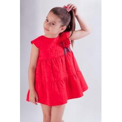 KAULI vestido manga corta en rojo COLECCIÓN ISLA
