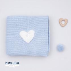 PANGASA manta COMFY azul empolvado