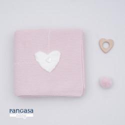 PANGASA manta COMFY rosa empolvado