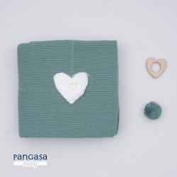 PANGASA manta COMFY verde esmeralda