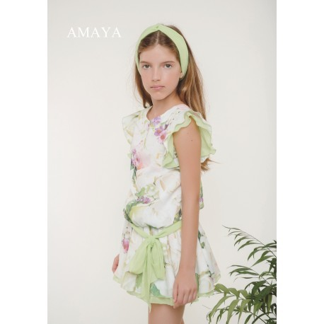 Vestido verde lima Amaya