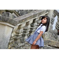 NOMA FERNANDEZ falda con blusa marino
